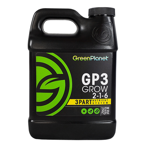 Green Planet - GP3 Grow 2-1-6 - 3 Part - 1L - GB Hydroponics
