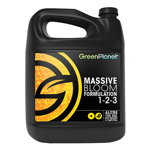 Green Planet - Massive Bloom Formulation 1-2-3 - 1L - GB Hydroponics