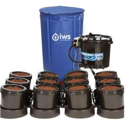 GB Hydro - IWS Flood and Drain Pro Remote (25mm) - 12 Pots - 250L