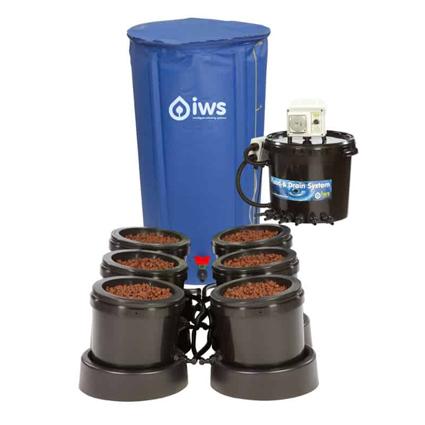 GB Hydro IWS Flood and Drain Pro Remote (25mm) - 6 Pots - 100L