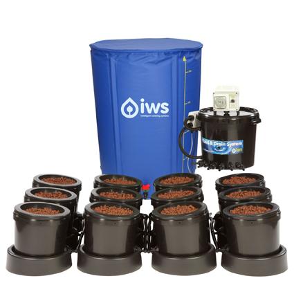 GB Hydro - IWS Flood and Drain Standard Remote (16mm) - 12 Pots - 250L